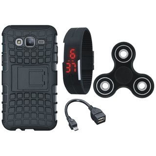OnePlus 5 Shockproof Tough Armour Defender Case with Spinner, Digital Watch and OTG Cable