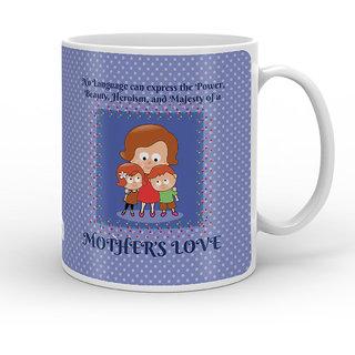 Indigifts Mom Kids Together With Love Decorative Coffee Mug 330ml