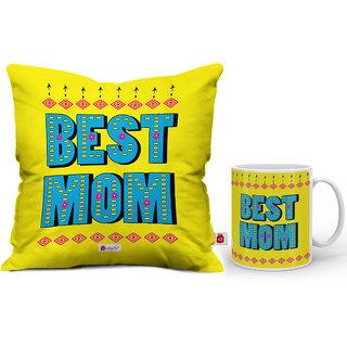 Mom Decorative Coffee Mug 330ml Cushion Cover 12x12 With Filler Combo