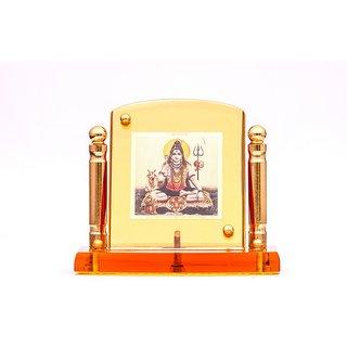 Decarate 24CRT Gold Plated Shiv Ji Car Frame (Pillar)