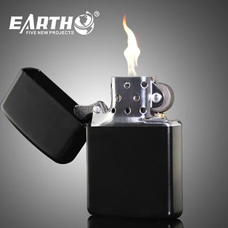 Jipo Earth Black Lighter (Without Fuel)