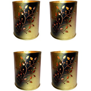 AH Floral Design Multicolor Iron  Tealight Votive Candle Holder ( Pack of 4 )