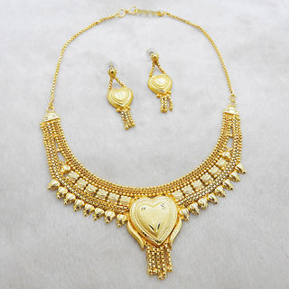 JewelMaze Brass Forming Necklace Set-1108129