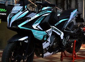 Pulsar Rs 200 Custom Decals/Stickers Full Body Petronas Limited Edition Kit for Bike - 10 inches(25.4 cm)