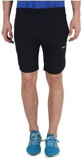 Nike Black Men/Boy's Polyester Lycra  Shorts
