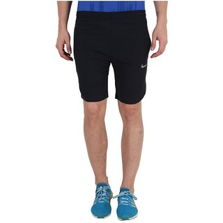 Nike Black Men/Boy's Polyester Lycra Shorts