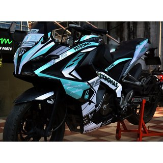 CR Decals Pulsar Rs 200 Custom Decals/Stickers Full Body Petronas Limited Edition Kit for Bike - 10 inches(25.4 cm)
