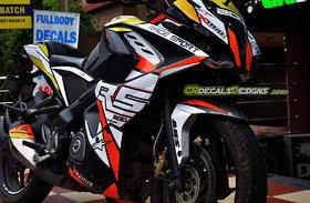 pulsar RS 200 Custom Decals/Stickers Full Body Bike RACE Kit-2