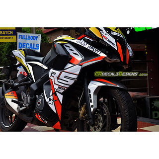 CR Decals pulsar RS 200 Custom Decals/Stickers Full Body Bike RACE Kit-2