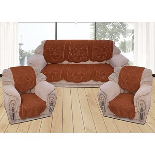 Embossed 5 Seater kniting Sofa Cover Set -10 Pieces by vivek homesaaz