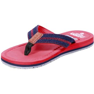 ADDA COMFORTABLE RED/ BLUE COLOR FLIPFLOPS FOR MEN