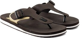 ADDA COMFORTABLE BROWN/BEIGE COLOR FLIPFLOPS FOR MEN