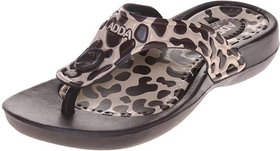 ADDA COMFORTABLE BROWN/BEIGE COLOR FLIPFLOPS FOR WOMEN