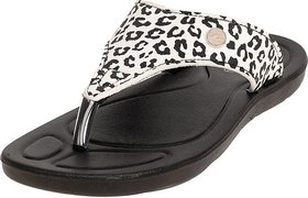 ADDA COMFORTABLE BLACK/WHITE COLOR FLIPFLOPS FOR WOMEN
