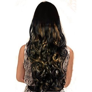 Haveream golden highlighting curly hair extension
