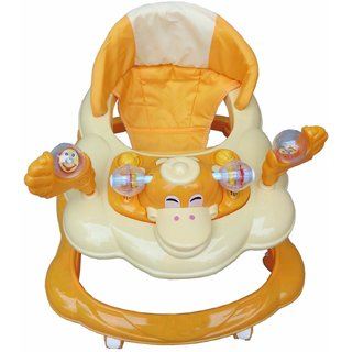 Oh Baby Baby Duck Shape Adjustable Musical Yellow Color Walker For Your Kids Se-W-71