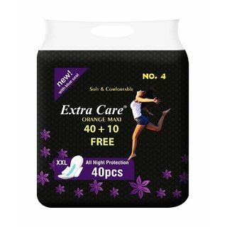 Extra Care Ultra Soft Sanitary Pads - Extra Large Size (40+ 10 Extra Counts )