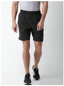 Nike Black Menboys Polyester Lycra Shorts