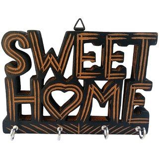 Woodykart Handicrafted Wooden Key Hanger Holder Wall Dcor