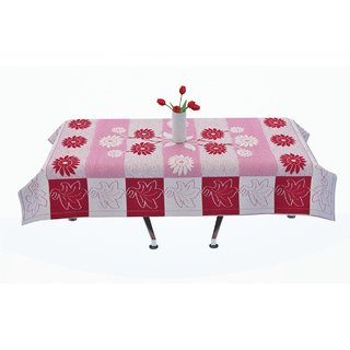Vivek homesaaz Designer Center Table Cover 4 Seater 40X60 inches (Red)
