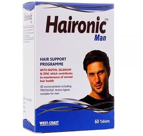 West-Coast Haironic Man WITH BIOTIN, SELENIUM  ZINC, 60