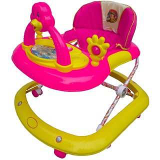 Oh Baby, Baby Adjustable Musical With Light Square Tweety Play Tray Shape Pink Color Walker For Your Kid SE-W-95