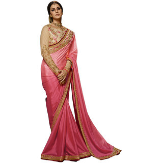 99bba3f21e003 Buy Kanha Fashion Women s Rangoli Silk Pink Saree Online - Get 47% Off