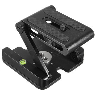 American Sia Aluminum Folding Z Pan Release Plate Stand Holder Tripod Flex Tilt Ball Head