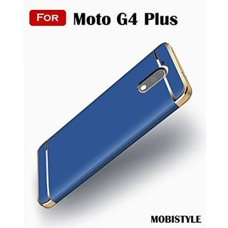 Moto G4 Plus Plain Cases ClickAway - Blue