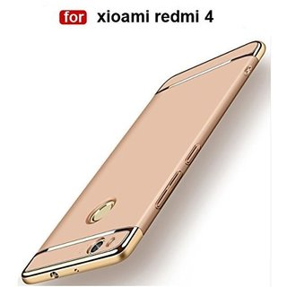 Redmi 4 Plain Cases ClickAway - Golden