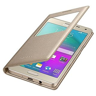 Samsung Galaxy J2 (2016) Flip Cover by RayKay - Golden