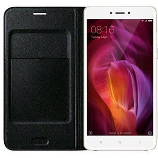 Redmi Note 4 Flip Cover by Karshni - Black