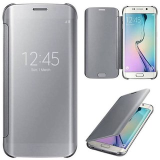 Samsung Galaxy J2 Pro Flip Cover by ClickAway - Silver