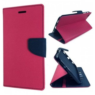 Redmi Note 4 Flip Cover by PKSTAR - Pink