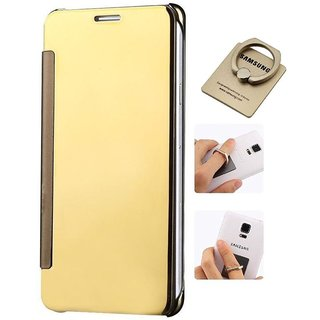 Samsung Galaxy Note 5 Flip Cover by ClickAway - Golden