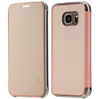 Rock Flip cover for Samsung S7 Edge - Veena Series(Rose Gold)