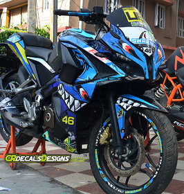 PULSAR RS 200 Custom Decals/Stickers Full Body 3D SHARK LIMITED EDITION Kit