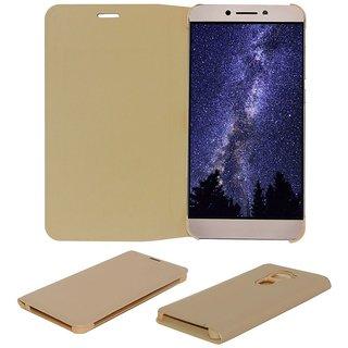Acm Premium Flip Flap Case For Leeco Le 2 Cover Golden
