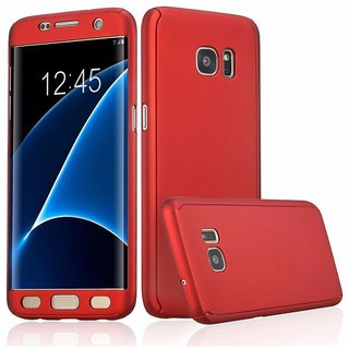 Samsung Galaxy S7 Edge Plain Cases Avzax - Red