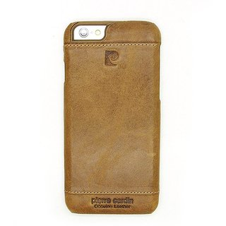 Pierre Cardin Iphone 6 Leather Back Cover Brown