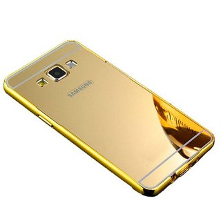 KTC New Golden Mirror Back Cover For Samsung Galaxy A7 (A710-2016) Mobile Phone