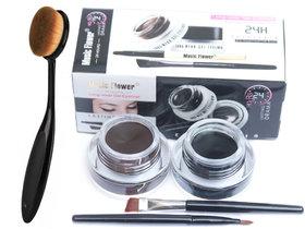 music flower gel eyeliner with makeup brush