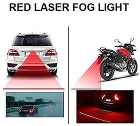 Car Bike Rear Laser Safety Line Fog Light Red for Bikes/Bullet/Scooty/Car fog light