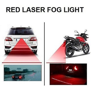 Carpoint Rear Laser Safety Line Fog Light Red for Bikes And Car