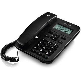 Motorola CT202i Corded Phone With Caller ID Speaker Phone- Black