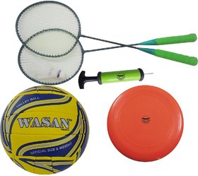 Wasan Outdoor Sports Set - Volleyball/Pump/Badminton/Frisbee