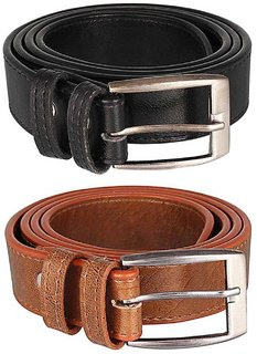 Winsome Deal Black  Tan Artifical Leather Belts