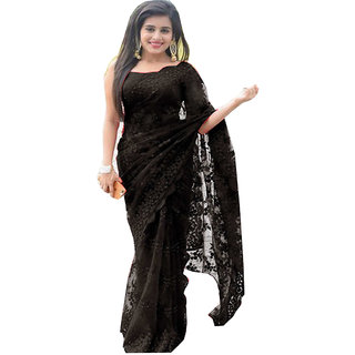64f15500aa106 Buy Srk Black Color Net Embroidered Saree Online   ₹2099 from ShopClues