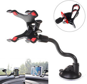 Long Arm Universal Car Soft Tube Mount Suction Holder for All Phones / GPS / PDA