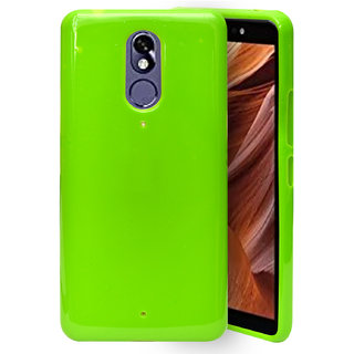 75f2c9ac3510e2 ECellStreet Soft Rubberized TPU Back Case Cover For Itel A44 / Itel A44 Pro  - Green